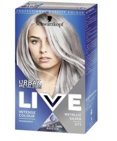 Live Urban Metalic Intense Permanent Colour  U71 Metallic Silver