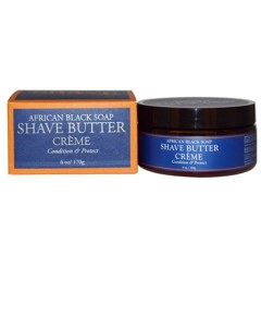 Men African Shea Black Soap Shave Butter Soap