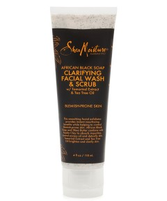 African Black Soap Clarifying Facial Wash And Scrub