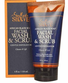 Shave African Black Soap Facial Wash And Scrub