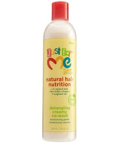 Just For Me Natural Hair Nutrition Detangling Creamy Co Wash