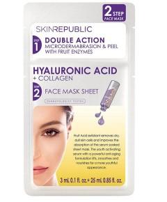 Double Action Hyaluronic Acid Plus Collagen Face Mask Sheet