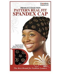 Donna Collection Pattern Real Fit Spandex Cap
