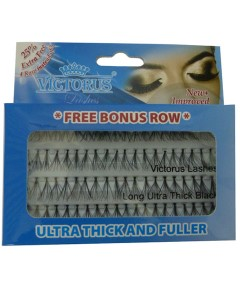 Victorus Ultra Thick And Fuller Lashes With Free Bonus Row