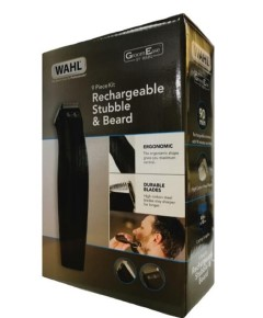 Groom Ease Rechargeable Stubble And Beard 9 Piece Kit