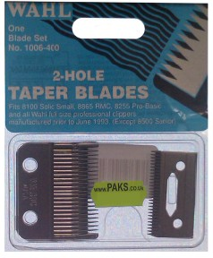 Wahl 2 Hole Taper Blades 1006 400