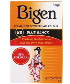 Bigen Permanent Powder Hair Colour 88 Blue Black