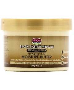 Black Castor Miracle Prep And Leave In Moisture Butter