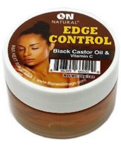 On Natural Black Castor Oil And Vitamin E Edge Control Hair Gel