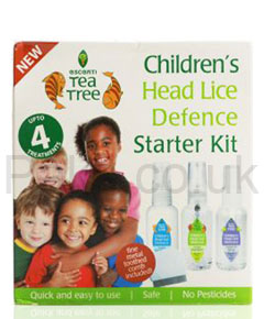 Escenti Tea Tree Childrens Head Lice Defence Starter Kit