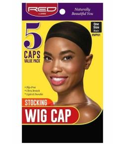 Stocking Wig Cap 5 Caps Value Pack Black HVP01