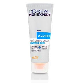 Men Expert All In 1 Moisturising Cream Sensitive Skin