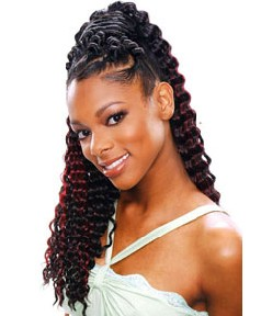 Glance Syn Soft Deep Curl Braid