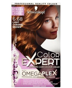 Color Expert Omegaplex Colour Cream 6.68 Light Caramel Brown