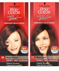 Grey Hair Poly Color Tint Permanent Colour Pakcosmetics