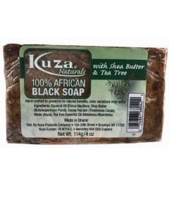 100 Percent African Black Soap With Shea Butter And Tea Tree