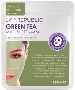 Skin Republic Green Tea Mud Sheet Mask