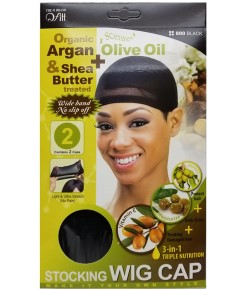 Qfitt Argan Shea Butter And Olive Oil Treated Stocking Wig Cap